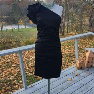 Nicole Miller Black Dress Size 8 NWOT One Shoulder